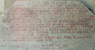Lapide di San Vitaliano